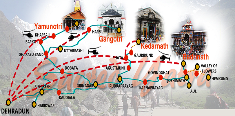 char-dham-route-map