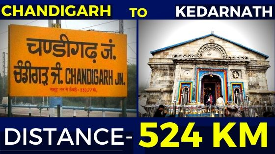 chandigarh-to-kedarnath-distance
