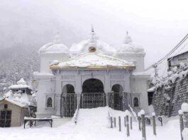 gangotri temple during winters